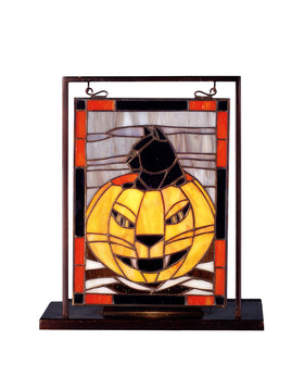 Meyda Tiffany Halloween Lighted Mini Tabletop Window 69140 705696691401