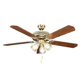"Hampton Bay Landmark Plus 52"" Ceiling Fan Polished Brass-OB"