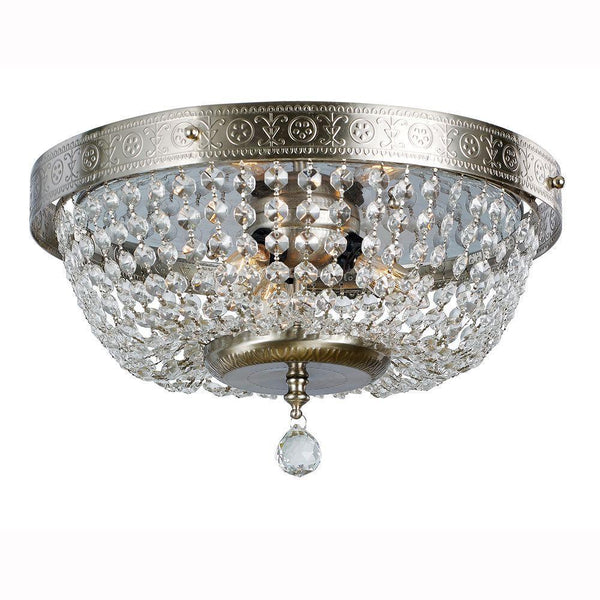 Hampton bay crystal accents 3 light flush mount fixture brushed hampton bay crystal accents 3 light flush mount fixture brushed nickel ob aloadofball Image collections