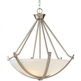 Home Decorators 3-Light Foyer Pendant Brushed Nickel-OB
