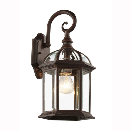 Trans Globe Wentworth 1 Light Outdoor Lantern Purple/Black-OB