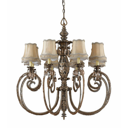 Triarch International Mardis Gras 8-Light Chandelier Silver Gold