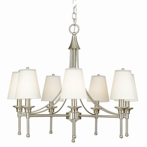 Hampton Bay Sadie 7-Light Chandelier Satin Nickel