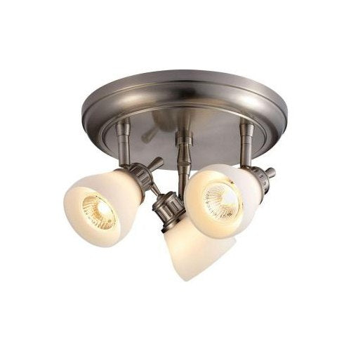 Hampton Bay Bairnsdale 3-Light Directional Ceiling Light Satin Nickel-OB