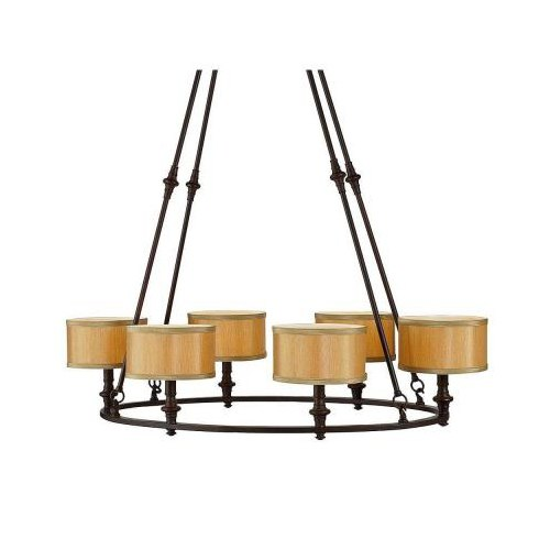 Home Decorators Denholm 6-Light Oval Chandelier Bronze