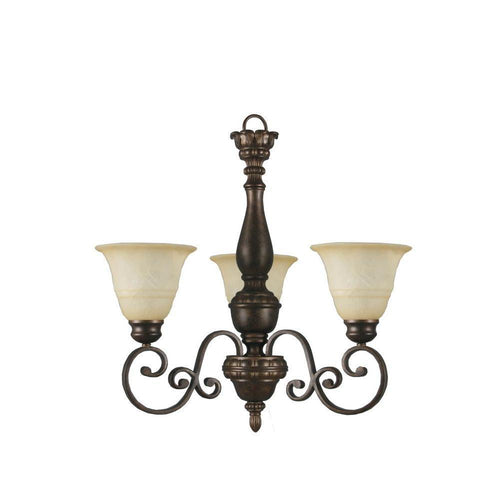 Hampton Bay Carina 3-Light Chandelier Aged Bronze