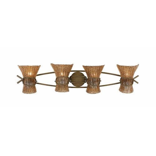Triarch International Bali 4-Light Vanity Wall Fixture Patina