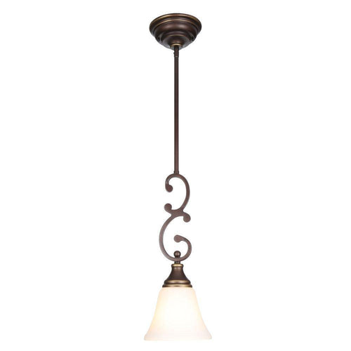 Hampton Bay Somerset Mini-Pendant Fixture Bronze-OB