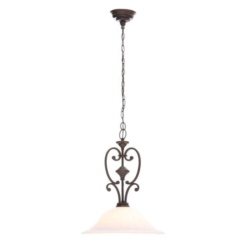 Hampton Bay Somerset 1-Light Pendant Fixture Bronze