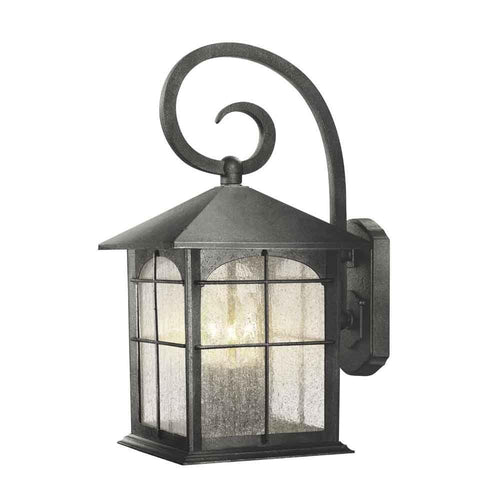 Home Decorators Brimfield Large Exterior Wall Lantern Aged Iron-OB
