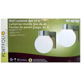 Portfolio Outdoor Wall Lanterns Black 2-Pack