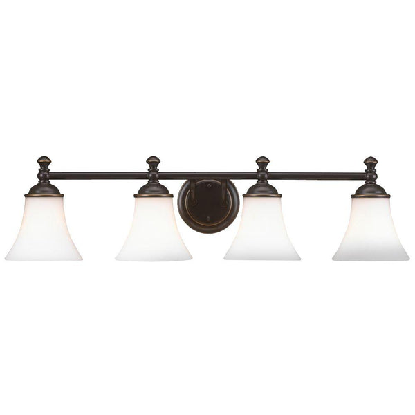 Hampton Bay Crawley 4-Light Vanity Fixture Oil Rubbed Bronze-OB