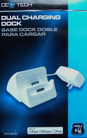 CE Tech Dual 30 pin Apple Charging Dock