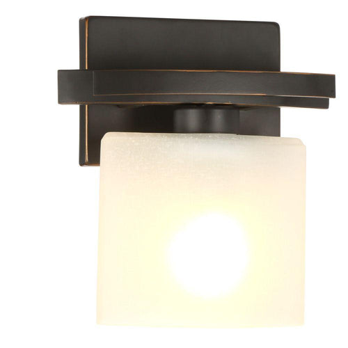 Hampton Bay Ettrick 1-Light Wall Sconce Oil Rubbed Bronze-OB