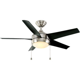 "Home Decorators Windward 44"" Ceiling Fan Brushed Nickel-OB"