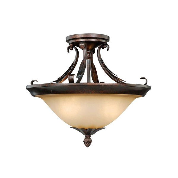 Hampton Bay Pinnacle 2-Light Ceiling Fixture Mahogany Bronze-OB