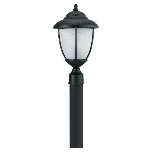 Sea Gull Lighting Yorktown 1-Light Outdoor Post Fixture Black-OB
