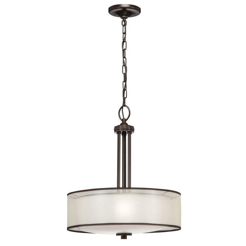 Hampton Bay Moroka 3-Light Pendant Fixture Bronze