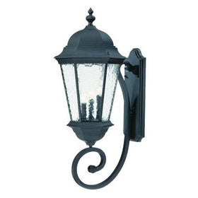 Acclaim Telfair 3-Light Outdoor Wall Mount Matte Black-OB