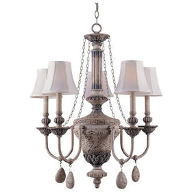 Triarch International Value Series 40 5-Light Chandelier Aged Fossil