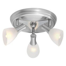 Eglo USA Ona 3-Light Ceiling Fixture Satin Nickel-OB