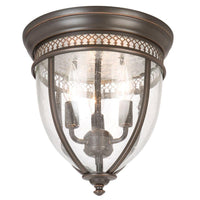 Hampton Bay 3-Light Bell Shape Flush Mount Oil Rubbed Bronze-OB