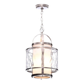 Progress Lighting Bay Court 1-Light Foyer Pendant Brushed Nickel-OB