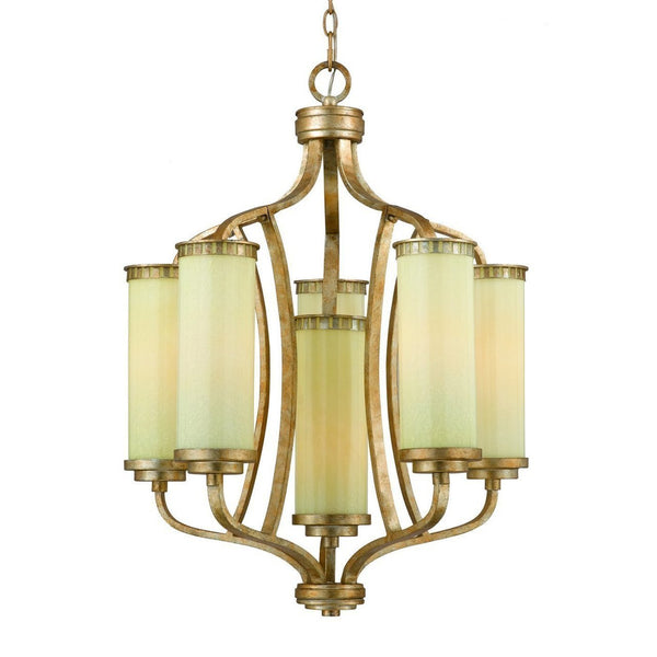 Triarch International Maestro 6-Light Chandelier Gold Silver Leaf