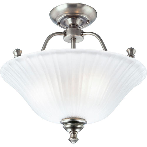 Progress Lighting Renovations 3-Light Semi-Flushmount Fixture Antique Nickel-OB