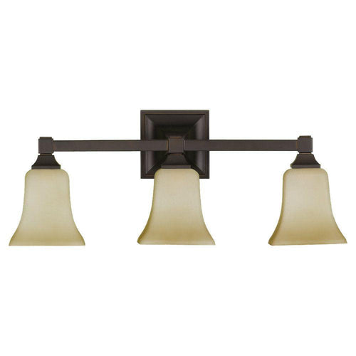 Feiss American Foursquare 3-Light Vanity Fixture Oil Rubbed Bronze-OB