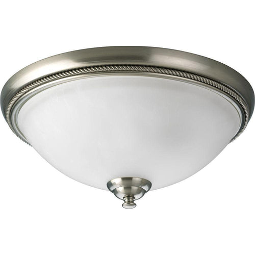 Progress Lighting Pavilion 2-Light Flush Mount Ceiling Light Brushed Nickel-OB