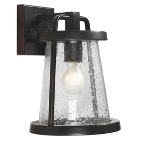 Home Decorators Gale Medium Exterior Wall Lantern Black Iron-OB