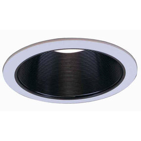 "Commercial Electric Recessed 6"" Light Trim 6 pack Black Baffle"