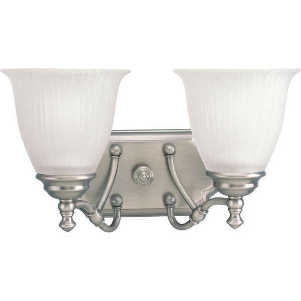 Progress Lighting Renovations 2-Light Vanity Fixture Antique Nickel-OB