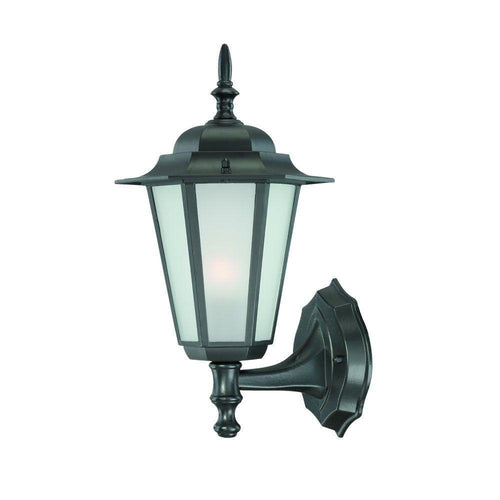 Acclaim Camelot 1-Light Outdoor Wall Mount Fixture Matte Black-OB