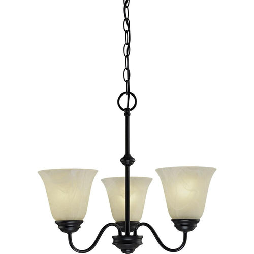 Volume Lighting Hammond 3-Light Chandelier Antique Bronze-OB