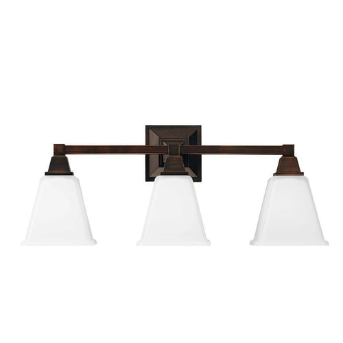 Sea Gull Lighting Denhelm 3-Light Vanity Fixture Burnt Senna-OB