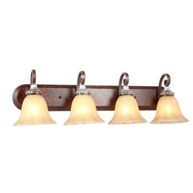 Hampton Bay 4-Light Bath Bar Oxide Brass