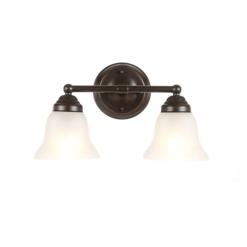 Hampton Bay Ashhurst 2-Light Vanity Fixture Oil Rubbed Bronze-OB