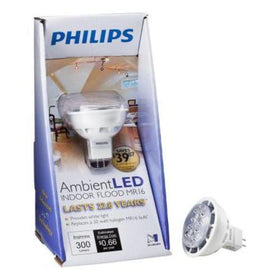 Philips LED GU5.3 MR16 05.5=20 watt 3000k Light Bulbs