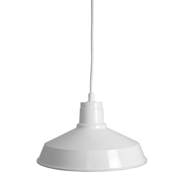 Home Decorators Industrial Metal Pendant White-OB