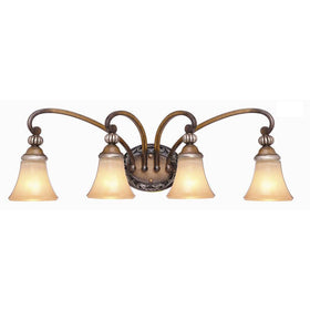 Hampton Bay Caffe Patina 4-Light Vanity Bath Fixture-OB