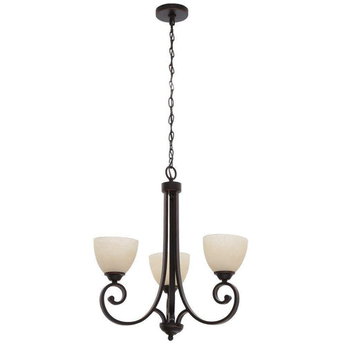 Hampton Bay Renae 3-Light Chandelier Oil Rubbed Bronze-OB