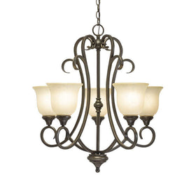 Hampton Bay Lavers Hill 5-Light Chandelier Scavo