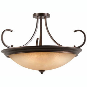 Triarch International La Costa 12-Light Semi Flush Ceiling Fixture English Bronze