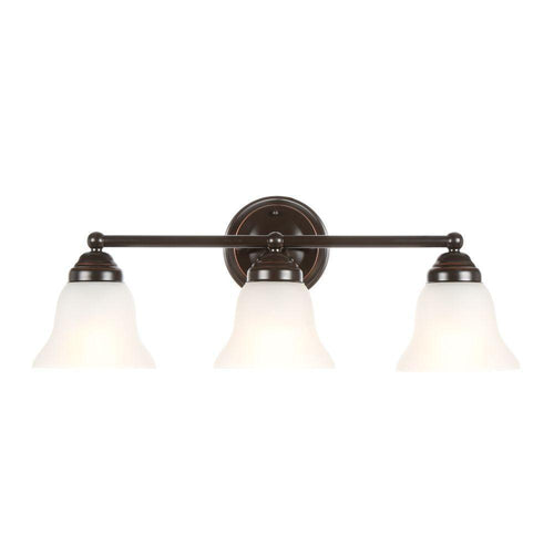 Hampton Bay Ashhurst 3-Light Vanity Fixture Oil Rubbed Bronze-OB