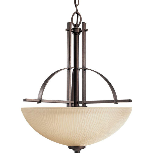 Progress Lighting Riverside 3-Light Foyer Pendant Heirloom