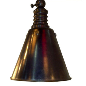 Home Decorators Cone Pendant Weathered Bronze-OB