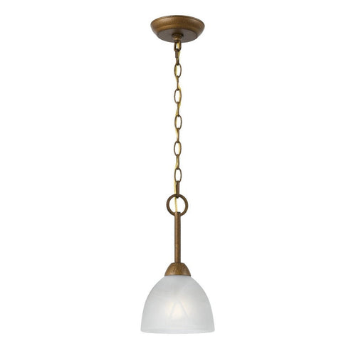 Triarch International Value 1-Light Mini-Pendant Aged Gold