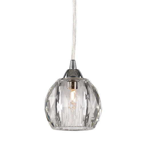 Decor Living Crystal Mini Pendant Chrome-OB